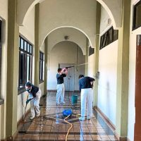 Penang Buddhist Tzu Chi Merit Society Malaysia members helping to clean up the halfway home for the homeless at the Caring Society Complex.